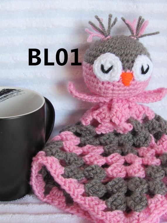 Crochet Baby Blanket Baby Afghan Owl Lovey In Blanket Swaddling