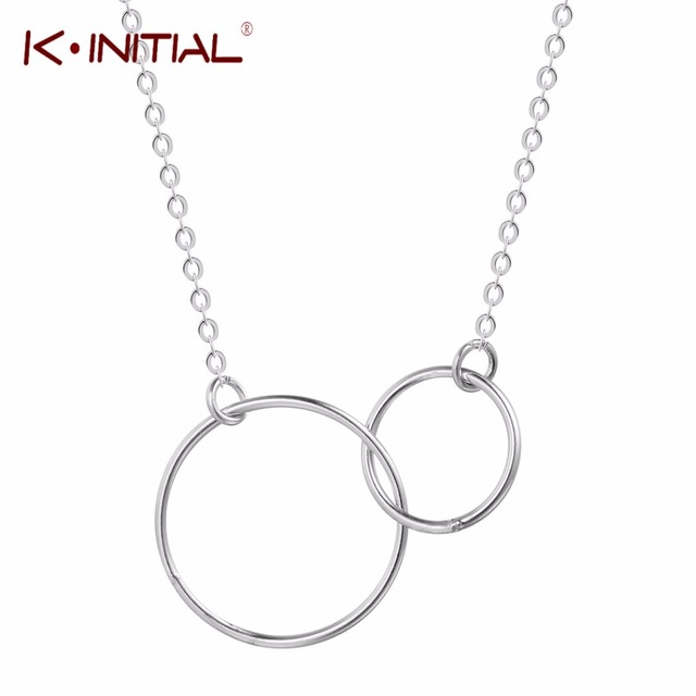 Kinitial double circle necklace 925 sterling silver initial eternity kinitial double circle necklace 925 sterling silver initial eternity hoop infinity pendant necklaces jewelry collar de mozeypictures Images