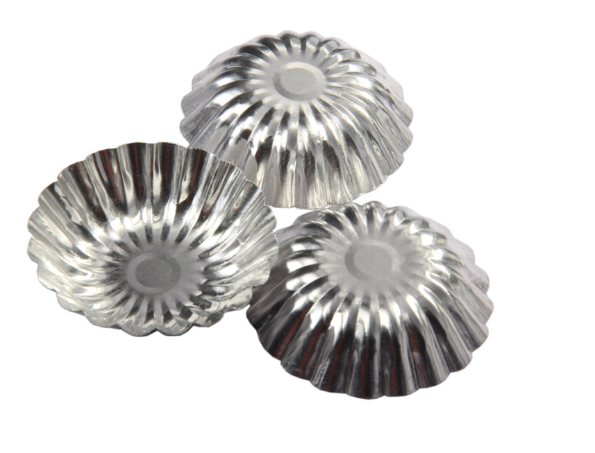 10pcs/lot,new Chrysanthemum Lamp Upset Stainess Steel Foil Baking Cookie Muffin Cupcake Egg Tart Pudding Mold Round Latest Technology Kitchen,dining & Bar