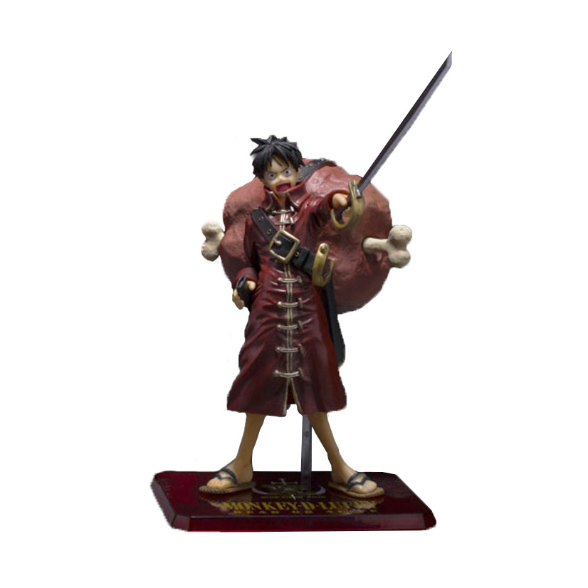Chanycore Anime ONE PIECE DXF Red close LUCY onepiece NEW WORLD PVC Action Figures 17CM Luffy meat collect model toys