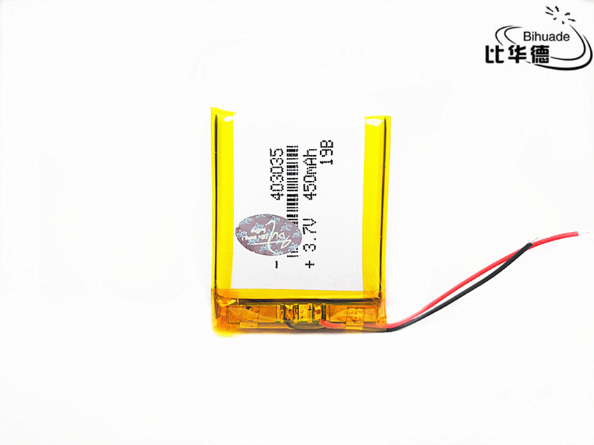 403035 <font><b>450mAh</b></font> <font><b>3.7V</b></font> Replacement Li-ion Lithium Polymer Battery Lipo Batteries Cells for MP3 MP4 GPS MP5 Toys Smart Watch image