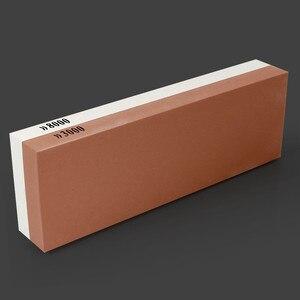 Image 3 - Точильный камень, столовые приборы, 3000/8000 зернистость, двусторонний точильный камень, комбинация, водяная точилка с резиновым держателем камня в комплекте