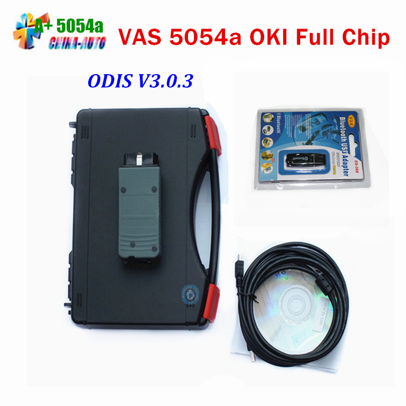 2017 Top Selling VAS5054a VAS 5054a ODIS V3.0.3 Diagnostic Tool with Bluetooth + OKI Chip Support UDS Protocol with Full Chip 5pcs lot vas 5054 bluetooth odis3 0 3 version support uds protocol vas5054 oki chip diagnostic tool vas5054a vas 5054a