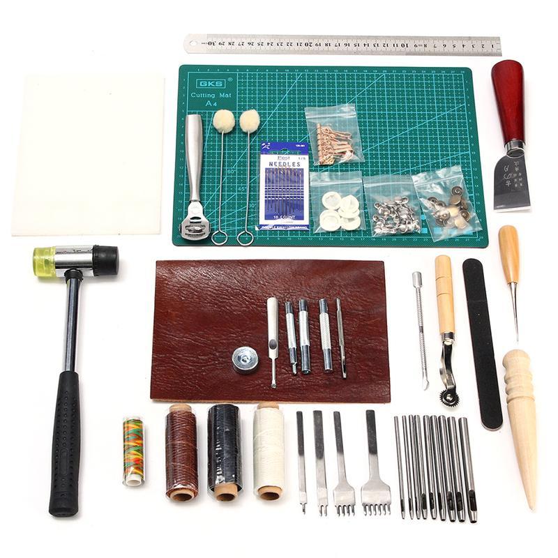 1 で 42 革クラフトツールキット縫製切断ステッチ彫刻セット  グループ上の ツール からの 工具セット の中 1