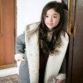 Шуба мальчики и девочки зимняя куртка теплая куртка детская новая мода куртка девочка кашемир с капюшоном пальто 3-14 лет старый