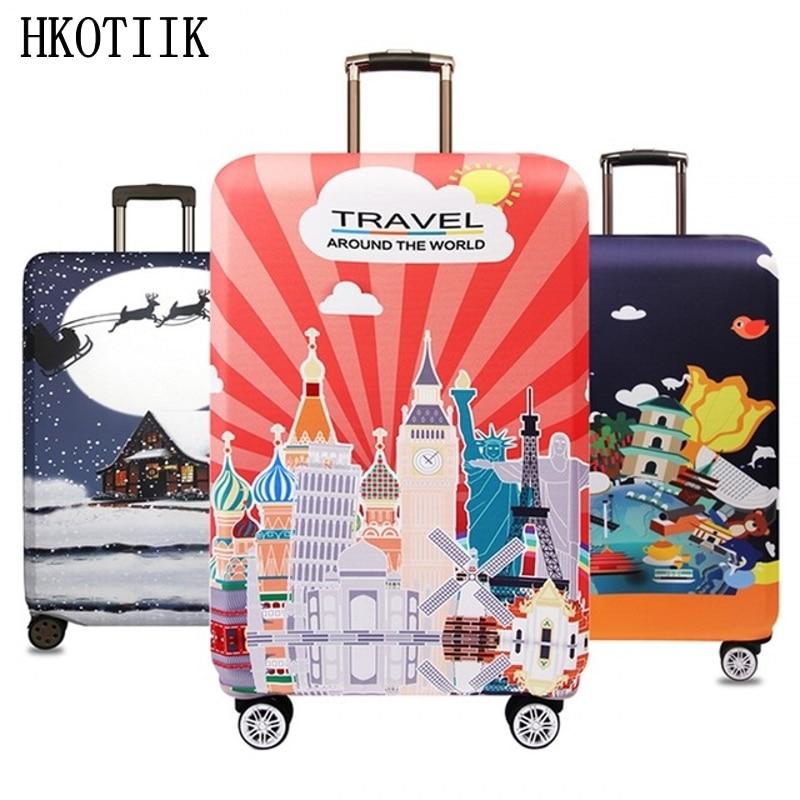 A mais recente alta qualidade mala trolley capa elástica capa protetora para 18 a 32 polegadas suitcase escudo acessórios de viagem