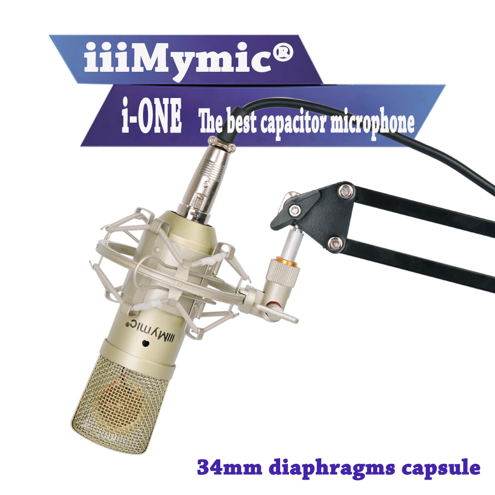 IiiMymic I-ONE !! 34mm Large Diaphragm Professional Wired Condenser Microphone Best Quality Cardioid Capacitor Microphone