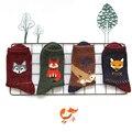 1Pair/lot Lovely Fox Wolf Striped 3D Socks Spring Winter Style Creative Cute Cotton Women Socks Girls Socks Free Shipping