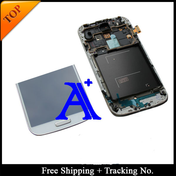 Free Shipping + Tracking No. 100% tested Super AMOLED For Samsung Galaxy S4  i9505  I9500 I9506 LCD  Digitizer Assembly  frame