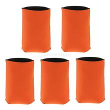 Neoprene Beer Cooler in several color (5 pcs set)