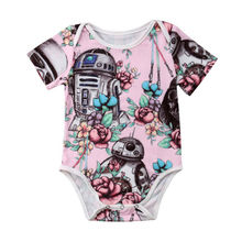 Cute Newborn Baby Girls Clothes Star Wars Bodysuit Floral Jumpsuit Infant Baby Outfits Set Toddler Girls Clothes SUnsuit