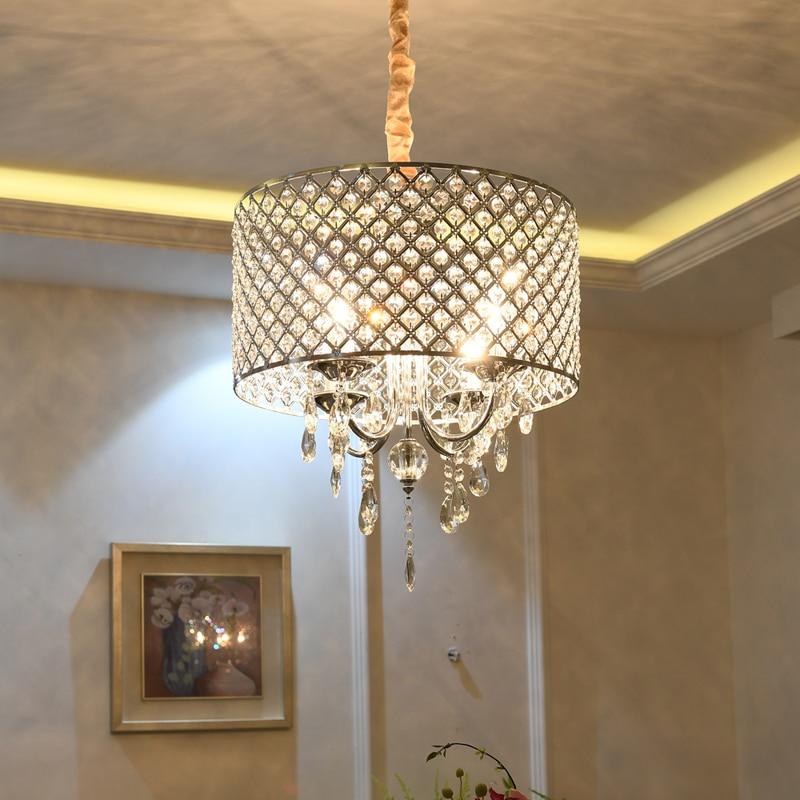 Luxury Crystal Pendant Lights Bedroom Restaurant Cloakroom Clothing Shop Hanging Lamp Creative Living Room Lustre Light Fixtures