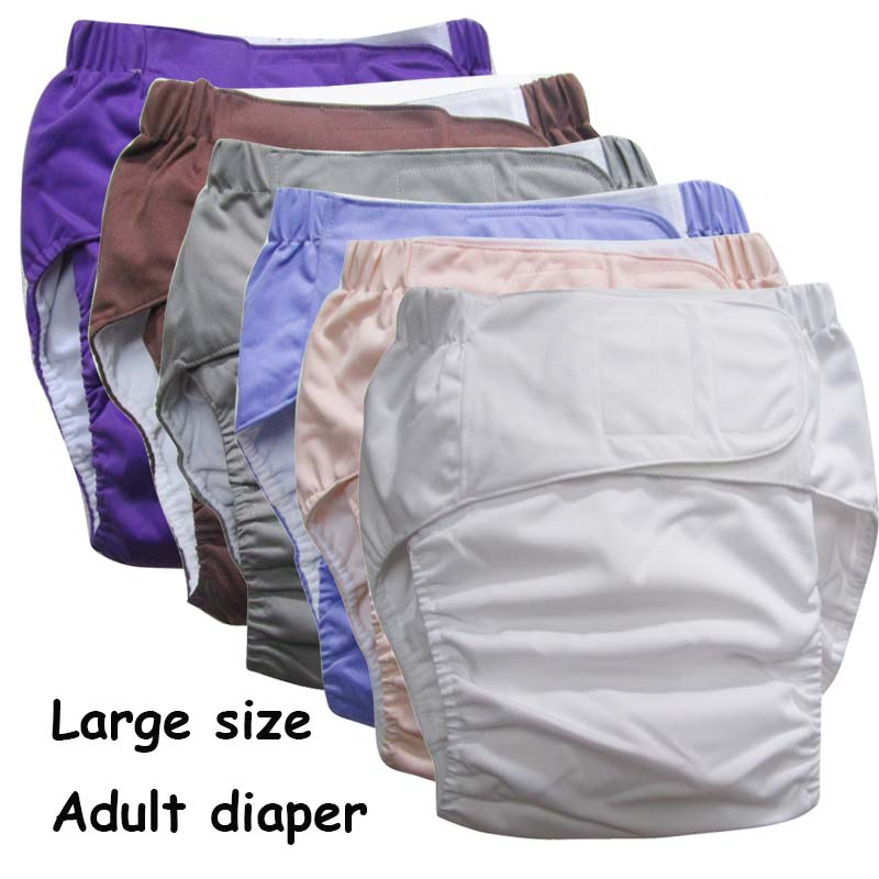 цены на Super large Reusable adult diaper for old people and disabled, size adjustable TPU coat Waterproof Incontinence Pants undewear