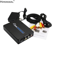 HIPERDEAL HDMI to 3RCA AV CVBS Composite & S Video R / L Audio Converter Adapter Upscaler Oct27