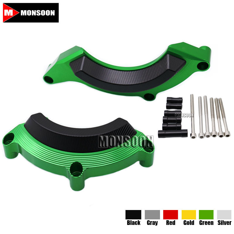 For KAWASAKI Z900 Z 900 2016-2017 Motorcycle Accessories Engine Protector Guard Cover Frame Slider Green kemimoto for kawasaki z900 2017 frame slider engine guard protection case saver for kawasaki z 900 2017 moto parts accessories