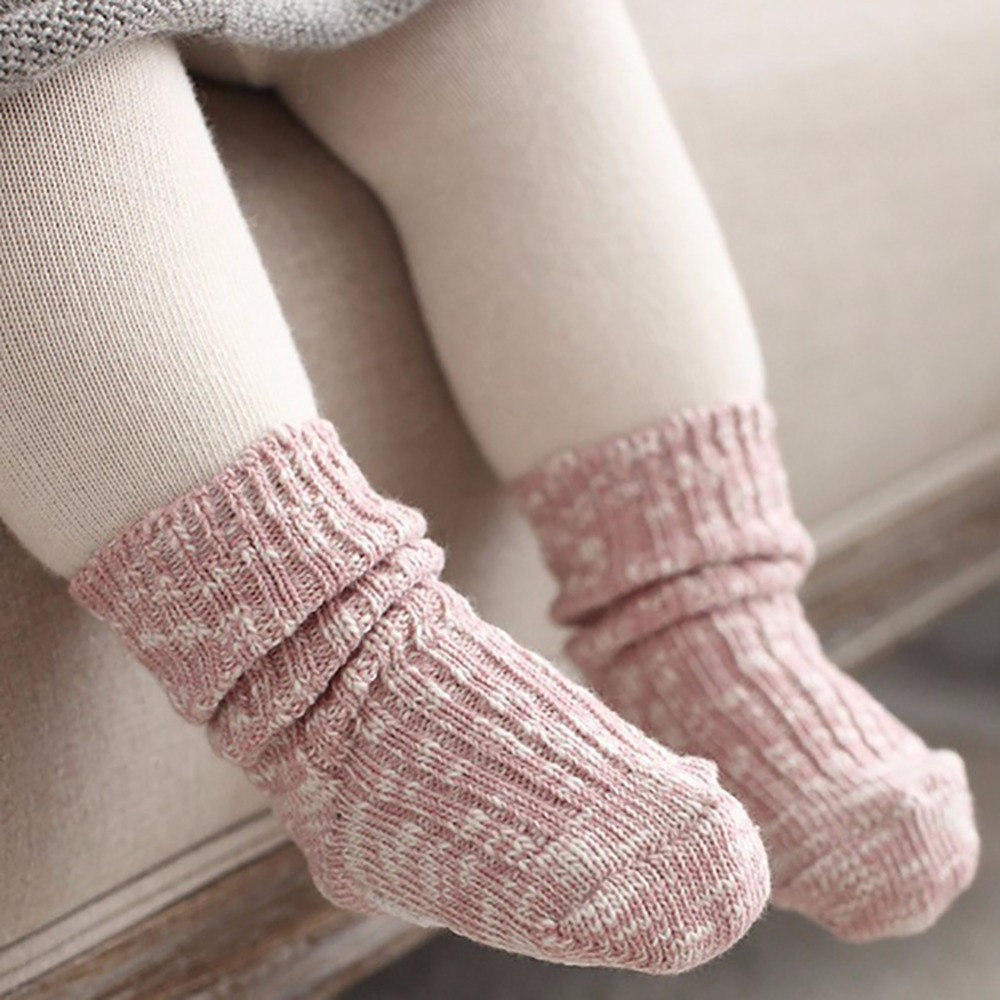 Children Boys GirlsWinter Autumn Girls Boys Cute Solid Color Baby Socks Ankle Length Thick Calcetines Cotton Socks