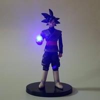Dragon Ball Goku Lampara Black Son Goku Zamasu Dragon Ball Z Action Figures Anime Super Saiyan Led Light PVC Model Toys