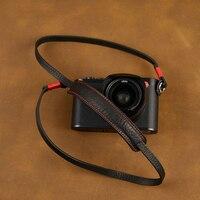 [AYdgcam] Universal Genuine Leather Camera Strap Handmade Shoulder Sling Belt For Canon Nikon Sony FUJI Fujifilm Leica Pentax