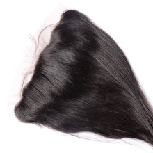 Stock Brazilian Virgin Hair Silk Base Frontal 13 x 4 Swiss Lace Frontal Closure With Baby Hair Free Shipping