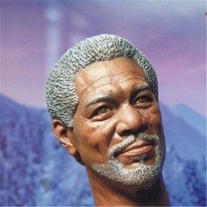 """Image 4 - Morgan Freeman modelo de cabeza esculpida para hombre, juguetes a escala 1/6, modelo de talla de cabeza para hombre, accesorio de figura de acción masculino de 12 """", envío gratuito"""