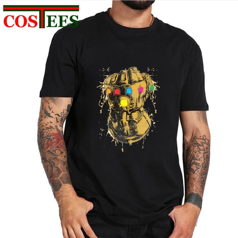 Vintage Splash Painting Avengers Infinity War Thanos T shirts men Stones  Power T-shirt Attack on Titan tshirt Retro hipster Tees d5b30073319