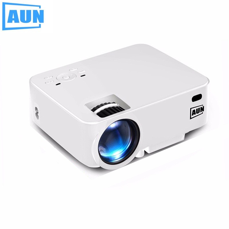 AUN Projector 1500 Lumens MINI Beamer Optional Android TV BOX LED Android Projector Support KODI AC3