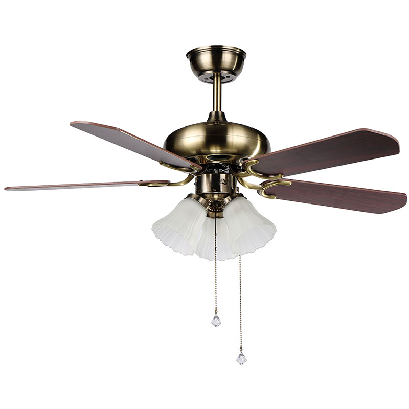 Decorative Wood Blades Ceiling Fan 4205 Red Church Glass Shades ceiling fan with light kit