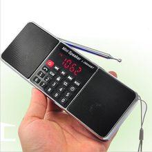 Leitor de música portátil estereofônico do orador de rádio fm de bluetooth com tfcard usb disk led controle de volume da tela altifalante recarregável