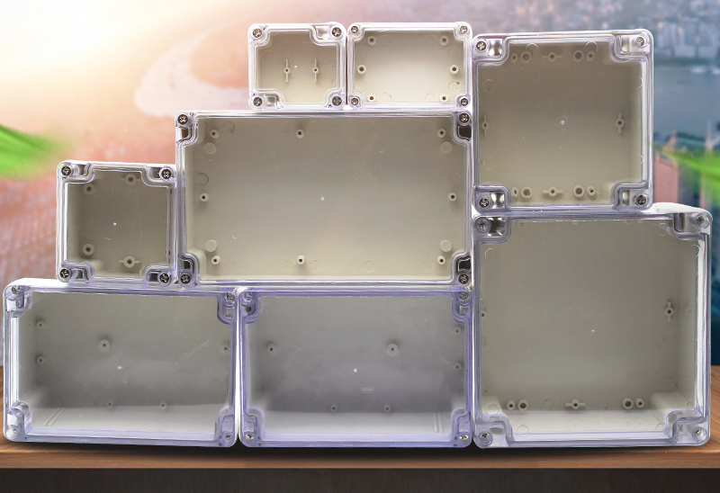 Elektronische Junction Box Plastic Behuizing Doos Project Instrument Case Waterdichte Elektrische Project Doos met Clear Cover