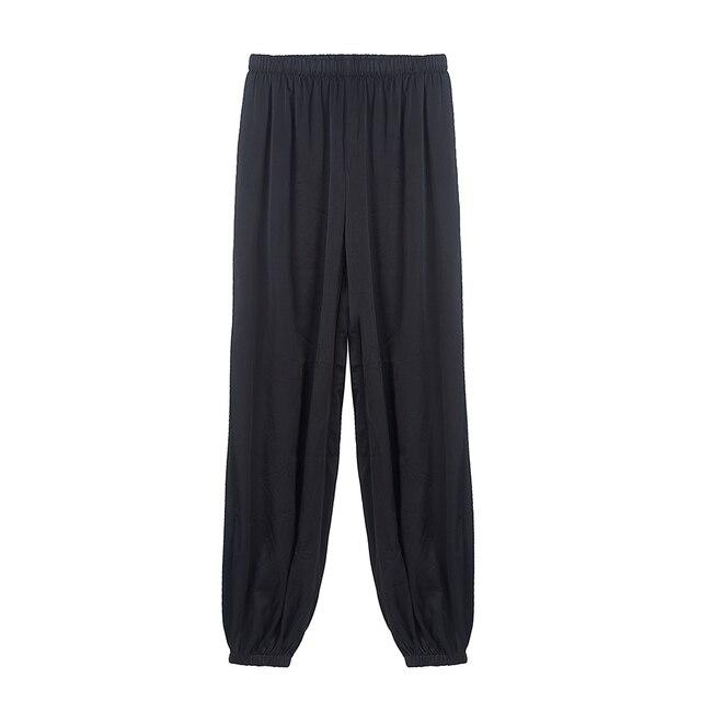 CISULI Pure Silk Stretch Pants For Autumn Kongfu Sports Pants Chinese Silk Factory Direct Sale Clothes China Free Shipping 1