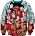 Unisex Women Men 3D Michael Jackson + Kaws Crewneck Sexy Sweatshirt Winter Cartoon Sweatshirts Sweats Tops Pullover Crewnecks