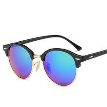 8d8311f71a823 2017 clásico redondo Gafas mujeres marca diseñador caliente Gafas rayos de  sol color Objetivos hombres conducción Gafas oculos g.