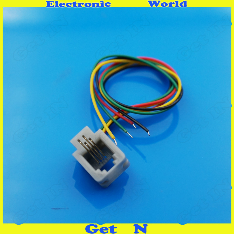 Rj11 Wire Phone Socket 616m1 4p4c Cable Connector