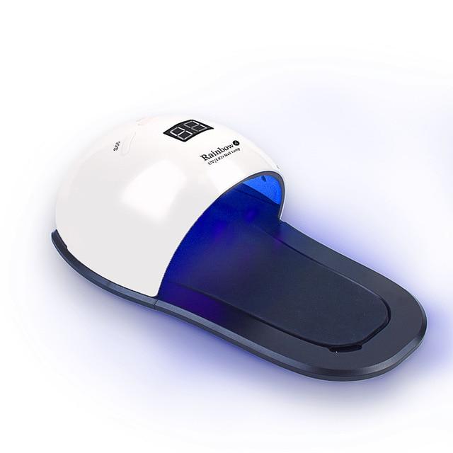 Dmoley Rainbow4 UV LED Lampe Nagel Trockner Mit 30 PCS Leds 48 W Mit Zeit Display Sensor Control Maniküre Nagel kunst Lampe-in Nageltrockner aus Haar & Kosmetik bei AliExpress - 11.11_Doppel-11Tag der Singles 1