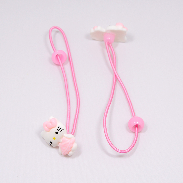High Quality Children Hair Accessories Set Hello Kitty Jewelry 1set=8pcs Jewelry Rings Hair Rope Necklace Bracelet Hairpin Gifts