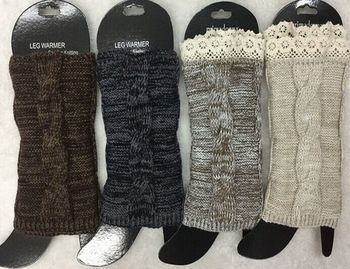 Women Twist Knitted Boot Cuffs Toppers Boot Socks leg warmers Crochet booty Gaiters 4 colors 200pairs/lot #3872