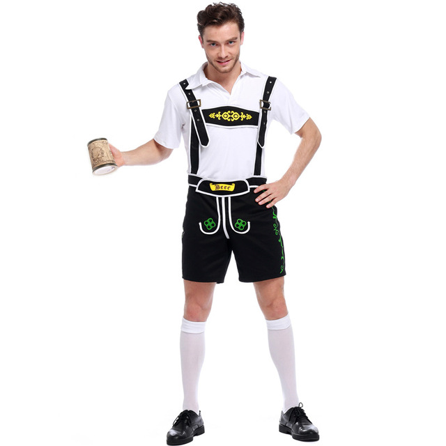 Adogirl German Traditional Beer Festival Adult Oktoberfest Costume Top+ Pant Two Piece Mens Halloween Costumes Plus  sc 1 st  AliExpress.com & Adogirl German Traditional Beer Festival Adult Oktoberfest Costume ...