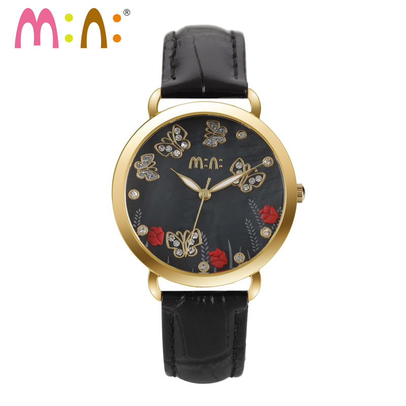 Luxury Brand Women Watches Fashion Waterproof 3D Flower Bracelet Ladies Quartz Wrist Watch Clock Woman Hours 2017 Montres Femme luxury brand women watches fashion waterproof girls gold bracelet ladies quartz wrist watch clock woman hours relojes mujer 2017