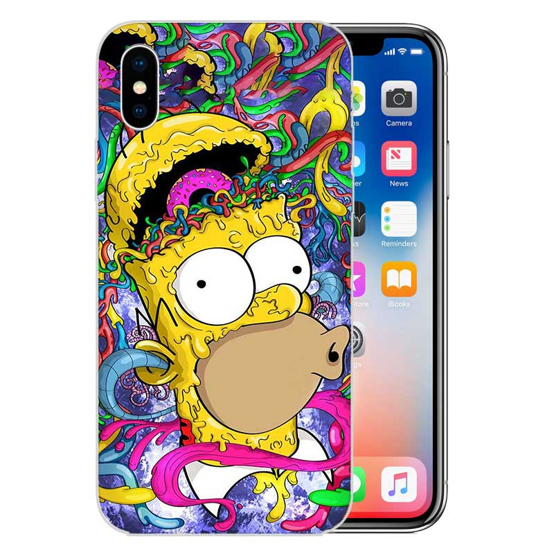 Homer J Simpson Fundas Silicone Phone Back Case For Apple iPhone 6 6S 7 8  Plus X 10 XS MAX XR 5 5S SE Heart Cover Capa
