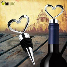 Heart Shaped Red Wine Champagne Bottle Stopper Twist Wedding Favors Zinc Alloy Leak-proof Home Bar Wine Pourer Vinhos Stoppers