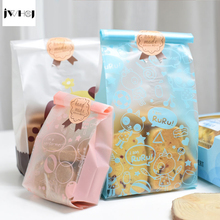 25 pcs/lot cute rabbit adhesive bag cookies diy Gift Bags for Christmas birthday Party Candy Food&Handmade soap Packaging bags