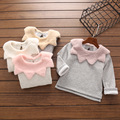 Girls sweater shirt 2016 girls winter clothes long sleeve  Baby girls t shirts  leaf collar soft sweater for girls hoodies