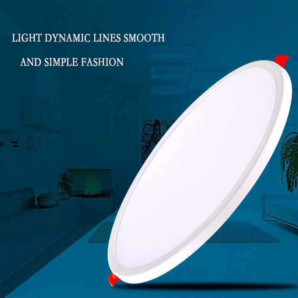 LAIMAIK Ultra Thin LED Panel Light Downlight 6W 8W 15W 20W Round/Square LED Ceiling Recessed Lights Power Supply Included