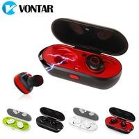 VONTAR Mini Wireless Ear buds Sweatproof wireless earphone Bluetooth 4.0 portable headphone charging box hands free headsets