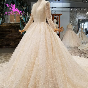 Image 4 - AIJINGYU לבן טול שמלות רשמיות כדור הודו מעצב סאטן החדש שמלת צבע חתונה שמלת שינויים