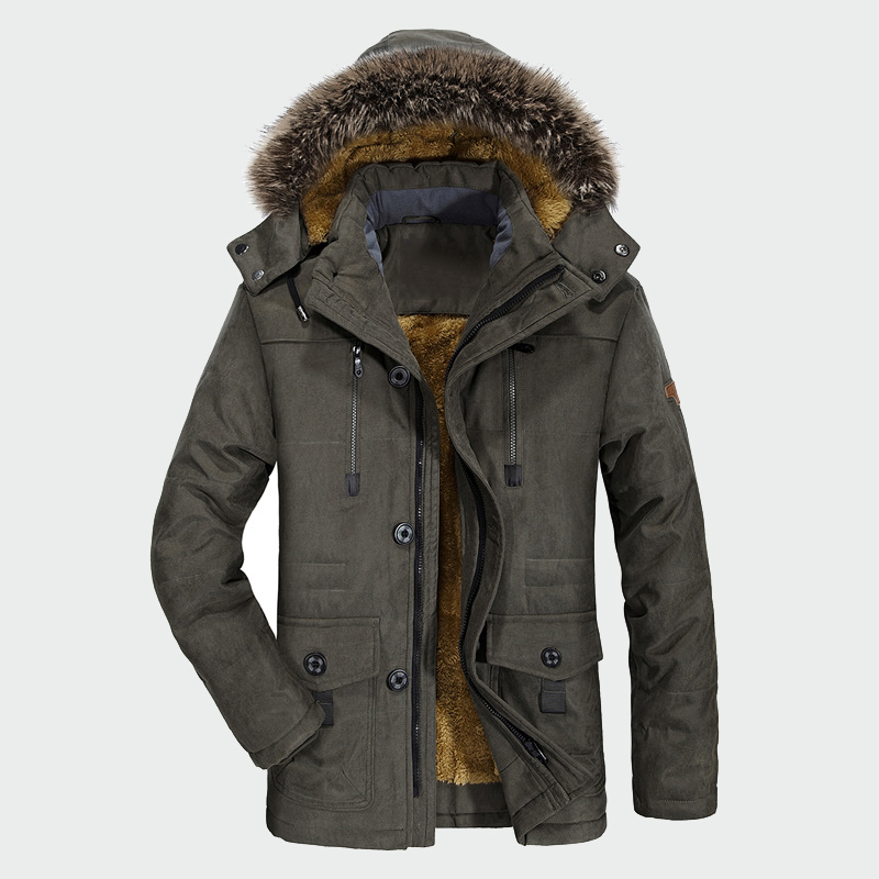 冬のコートのジャケットの男性プラスベルベット肥厚暖かい防風ジャケットメンズカジュアルフード付きコートメンズブランド服 6XL ML036  グループ上の メンズ服 からの パーカー の中 1