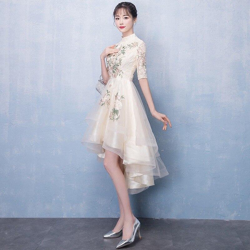 Image 5 - Женское платье цвета шампанского, элегантные платья для невесты на выпускной, 2020Платья подруги невесты   -