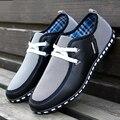Hombres de la manera Atan Para Arriba Zapatos de Marca Hombres Zapatos Casuales Hombres Entrenadores Negro