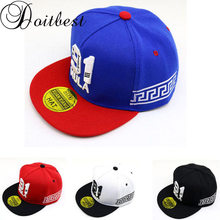 Doitbest 2 to 8 Years old Children Baseball Cap summer Spring Hip Hop kids Sun Hat 91 Numbers Boys Girls snapback Caps(China)