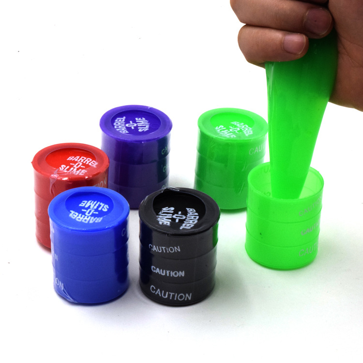 Colorful <font><b>Slime</b></font> Toy Anti-stress Novelty Toy Clear Clay <font><b>Barrel</b></font> <font><b>Slime</b></font> Glue Oil Crystal DIY For Kids Magical Clay Mischievous Toy image